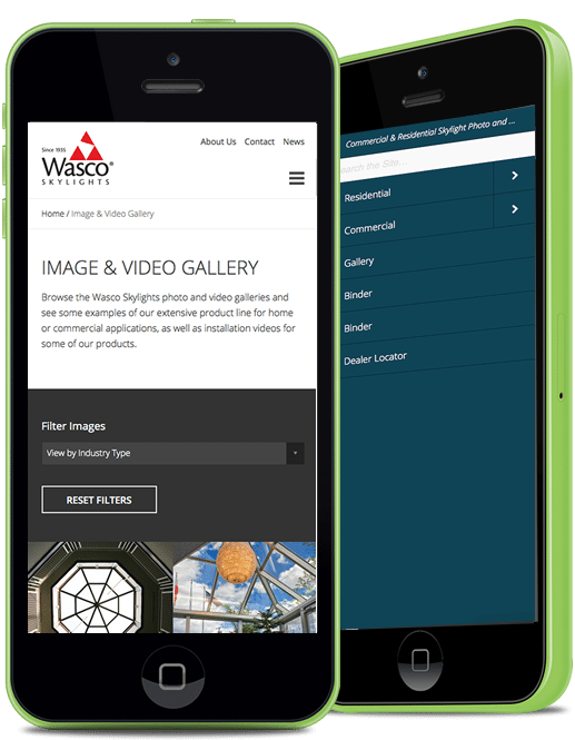 Wasco Image and Video Gallery on Mobile