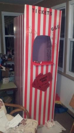 Static Ticket Booth For Carnival Haunt In Progress
