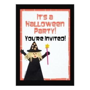 kids halloween invitation