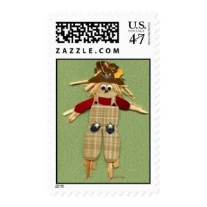 scarecrow halloween stamps