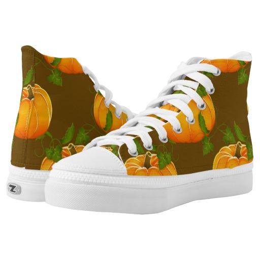 pumpkin sneakers high tops