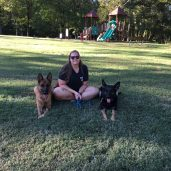 ME and my GSDs-Jewels and Avah at Henry Horton State Park-Dog adventures 2020