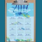 Happy New Year (Free Printable Calendar)