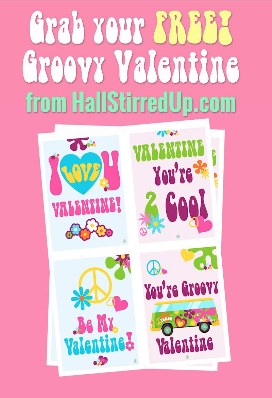 Grab Your Groovy Free Valentine's Printable