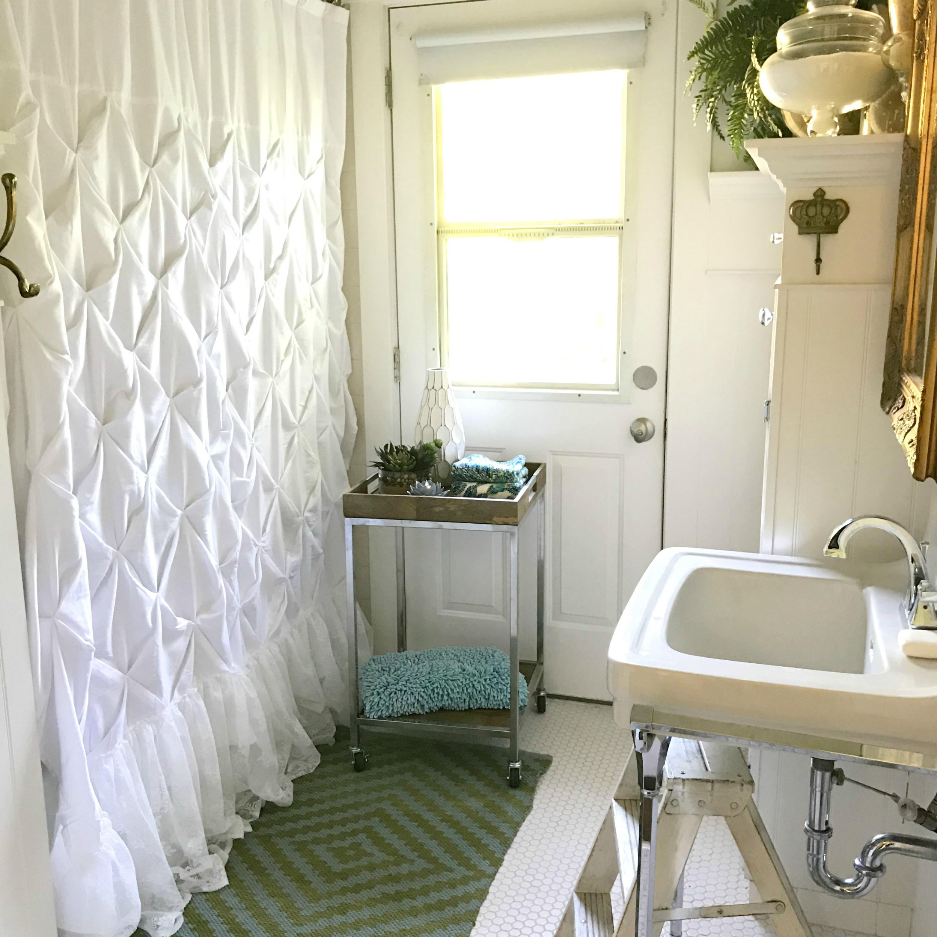 Updating a Small Farmhouse Bathroom ~ Hallstrom Home on Farmhouse Bathroom  id=74526
