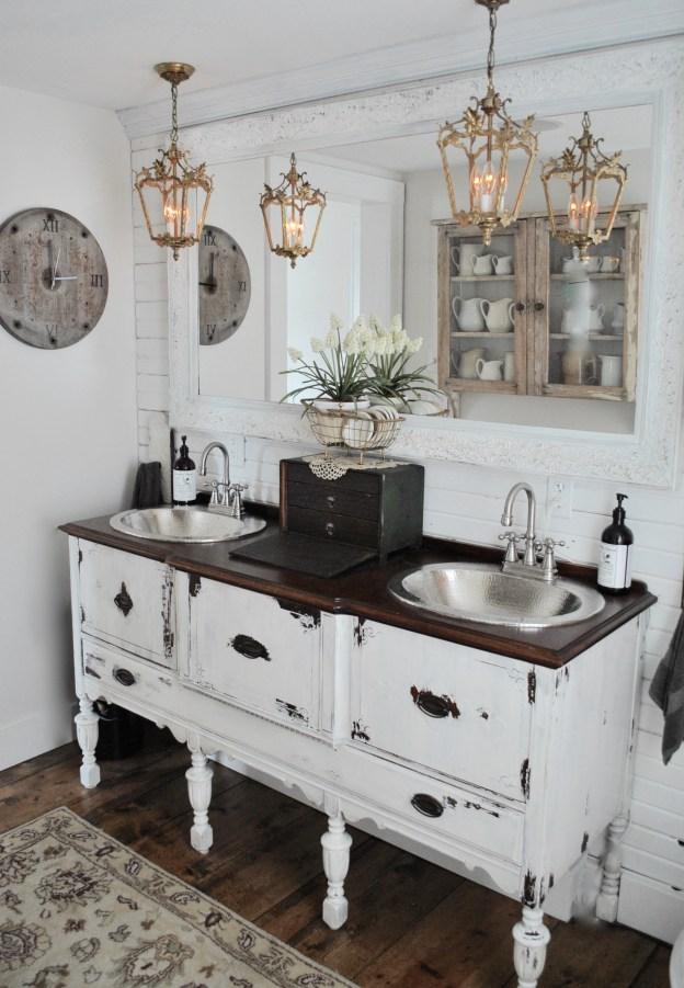 13 Beautiful Farmhouse Bathrooms - Hallstrom Home on Farmhouse Bathroom  id=75474