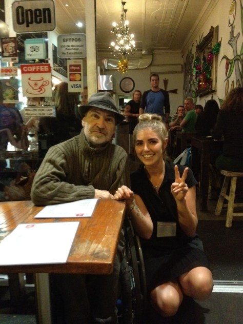 swami & friendly waitress