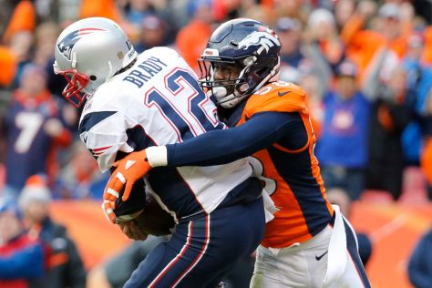 Broncos Linebacker Von Miller sacks Patriots QB Tom Brady, AFC Title game