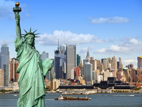 Wave to the Statue of Liberty