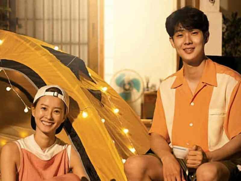 "Jung Yu-mi and Choi Woo-shik in ""Summer Vacation"""