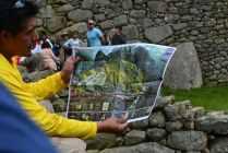 En bild över hur forskare tror Machu Picchu såg ut när det levde människor där.