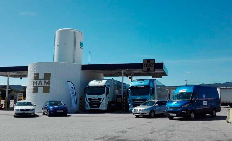 El Rally LNG Blue Corridor ha parado en HAM Jonquera para repostar sus vehículos