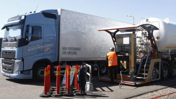 GRUPO HAM SUMINISTRA GNL A LOS CAMIONES VOLVO GAS POWER TRUCKS