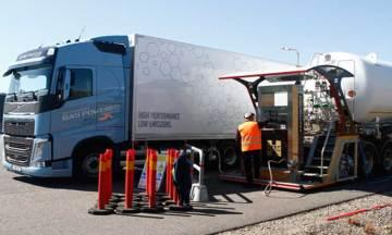 Volvo selecciona una unidad móvil GNL de Grupo HAM para repostar sus camiones durante el evento Test&Drive