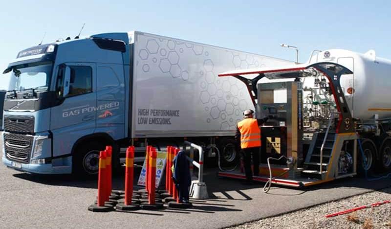 Grupo HAM ha sido seleccionada por Volvo para repostar sus caminones, con la unidad móvil de gas natural licuado, durante el Test & Drive en Suecia