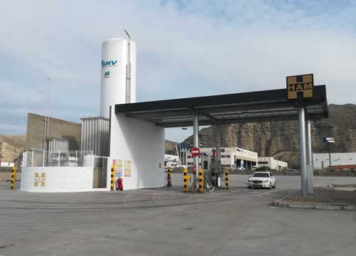 HAM Group has opened a service station for liquefied natural gas and compressed natural gas in Alfajarín, Zaragoza