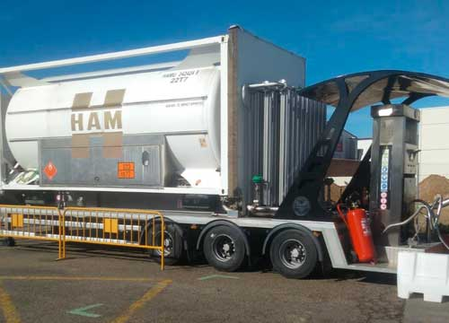 HAM mobile liquefied natural gas (LNG) service station