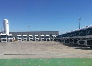 En HAM usamos GNL, una energía limpia y respetuosa con el medioambiente, en nuestra flota de transporte terrestre