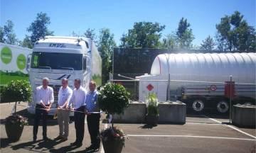 HAM es pionera en ofrecer soluciones móviles para el repostaje de gas natural licuado en Suiza. Ha construido dos unidades móviles de GNL para Lidl