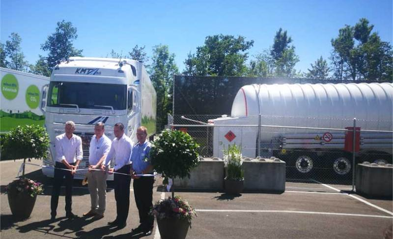 HAM Group has been in Switzerland for the inauguration of the two LNG mobile service stations that it has designed and built for Lidl