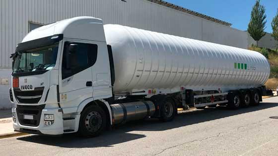 Liquid Natural Gaz, integrada en Grupo HAM, transporta por carretera GNL gracias a la flota propia de Transportes HAM