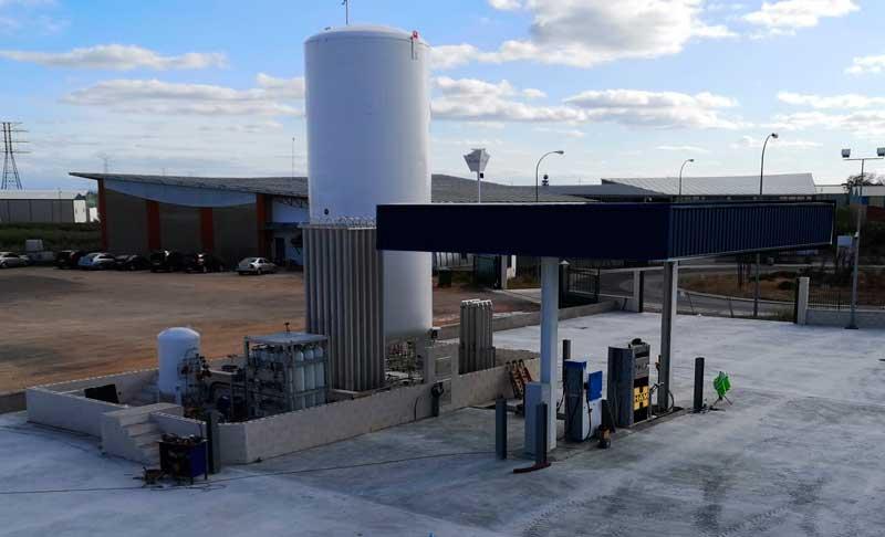 Estación de servicio HAM Albacete de gas natural licuado (GNL) y gas natural comprimido (GNL)