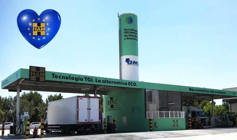 HAM Group CNG-LNG service stations grow in Spain and the rest of Europe