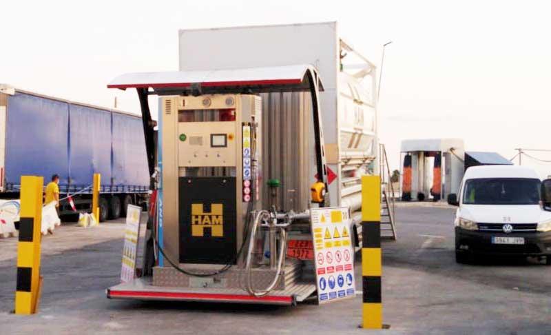 HAM estación de servicio móvil GNL-GNC Crevillente, Alicante