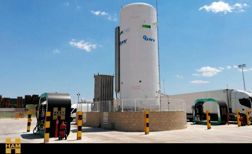 HAM Group inaugurates fixed CNG-LNG service station in Riba-roja, Valencia