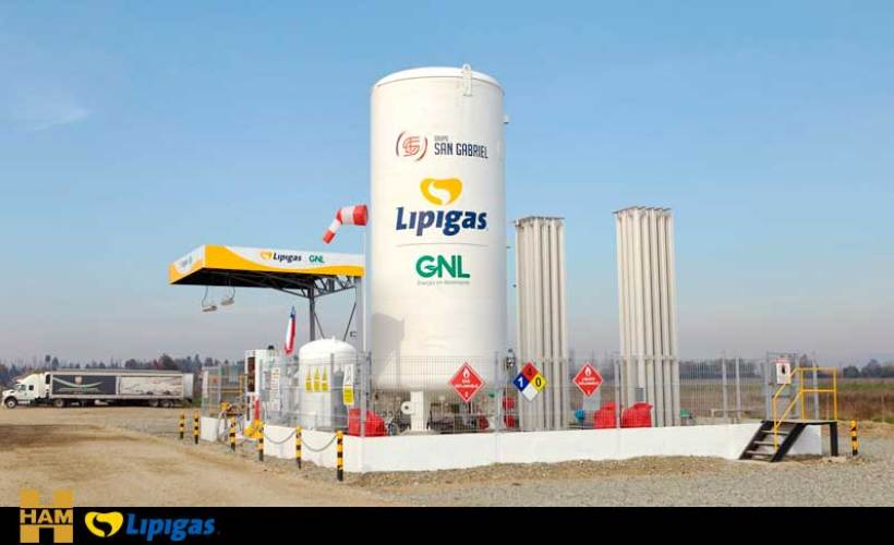 HAM and Lipigas have built the first LNG gas station in Chile