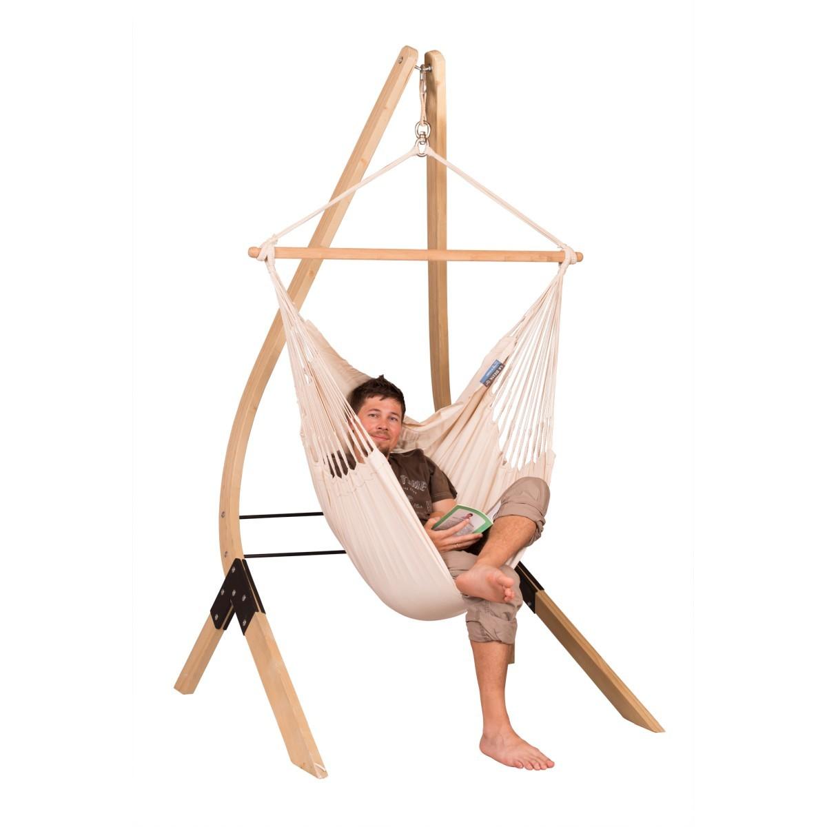 la siesta chaise hamac basic modesta latte support en bois pour chaise hamacs basic ve
