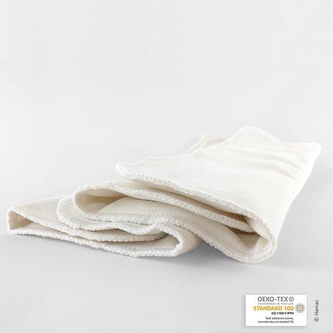 2 absorbants lavables en coton biologique