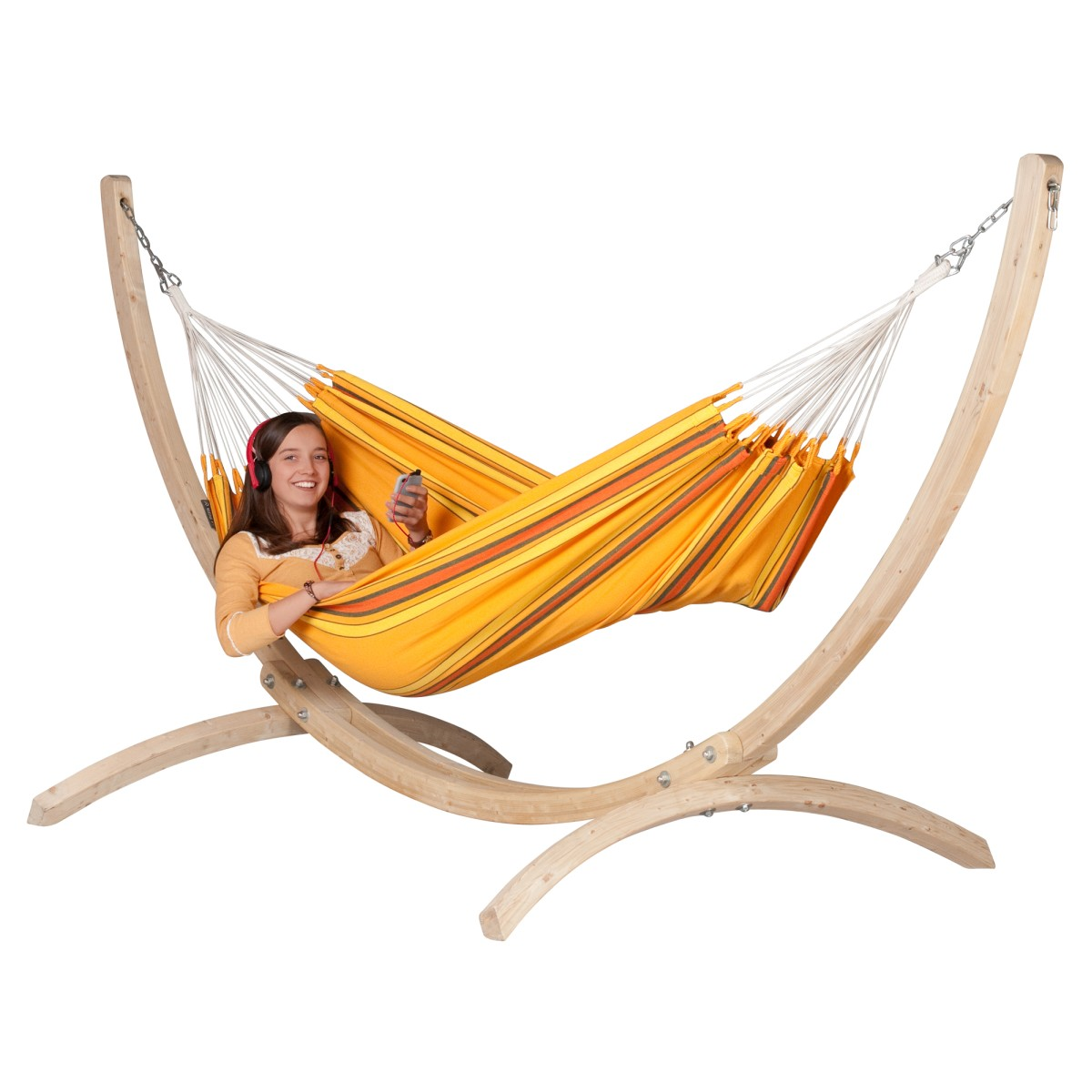 Hamac Simple CURRAMBERA Apricot Support Pour Hamacs