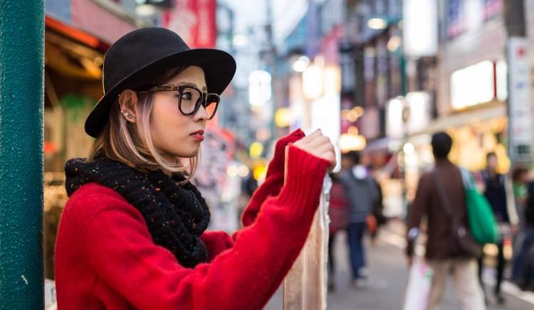 японка на улице