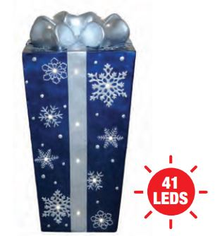 Blue Christmas Gift statue
