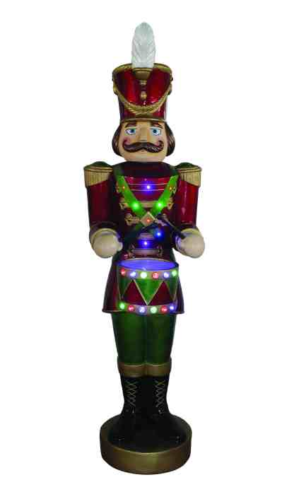 Animated-Drumming Soldier statue