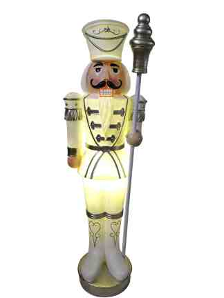 Nutcracker White with Baton statue