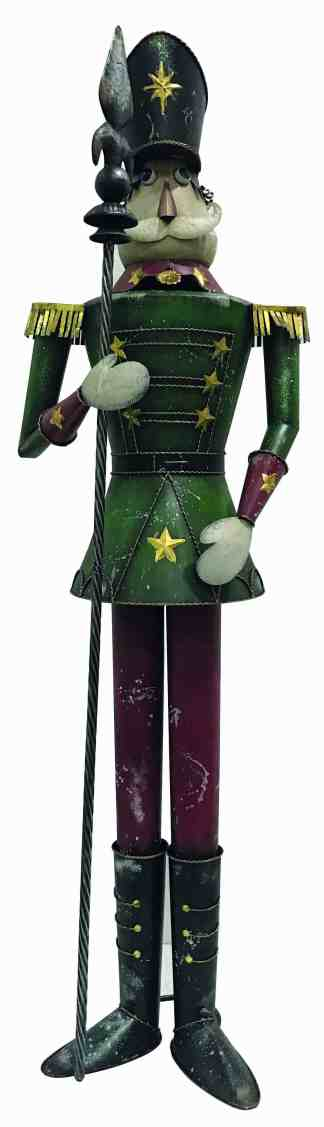Nutcracker Green/Red statue