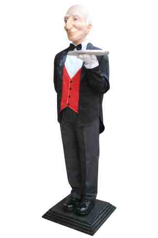 Butler with Base statue