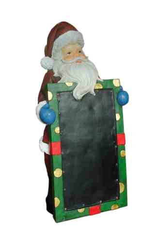 Santa with Blackboard statue