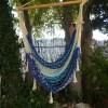 hamac chaise artisanal mexicain bleu blanc