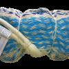 hamac mexicain artisanal double bleu blanc