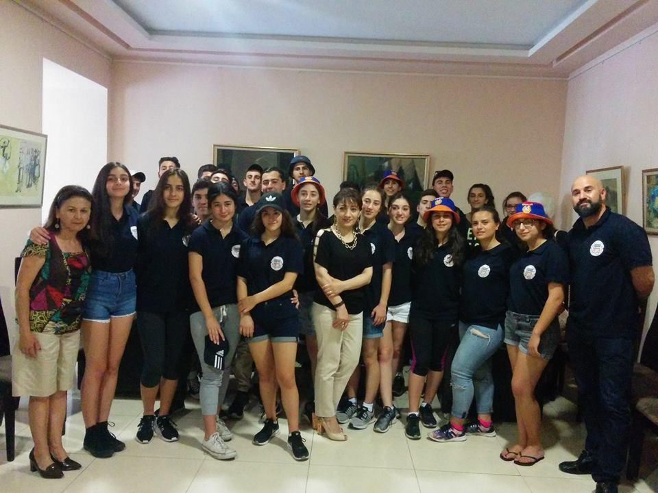 Hamazkayin's Arshak and Sophie Golsten Djemaran Students' Visit to Armenia