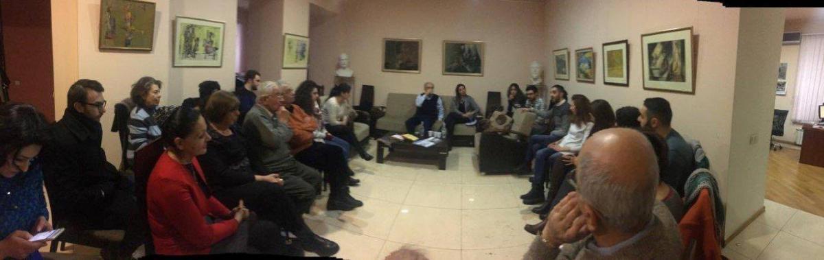 Հանդիպում-զրոյց Գրիգոր Պըլտեանի հետ Համազգայինի Հայաստանի գրասենեակում