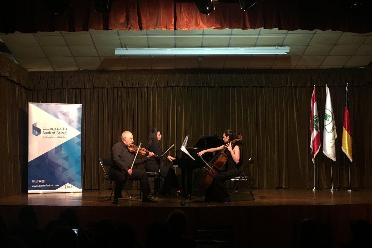 Համազգայինի «Բարսեղ Կանաչեան» Երաժշտական Քոլեճի Եռեակը հմայեց օտար հանդիսատեսը (Լիբանան)