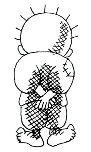 ناجیالعلی خالق شخصیت کارتونی «حنظله» بود که به نماد ستمکشیدگی ملت مبارز فلسطین بدل گشت.