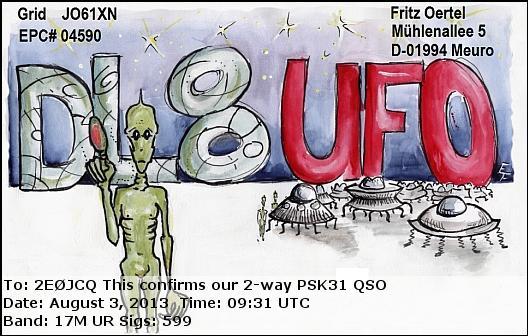 DL8UFO eQSL Card