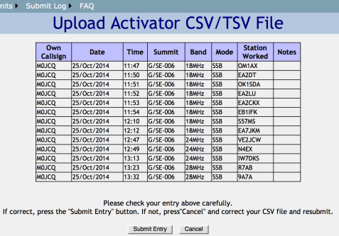 Upload Activator Log