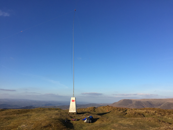 Trig point as antenna mast support