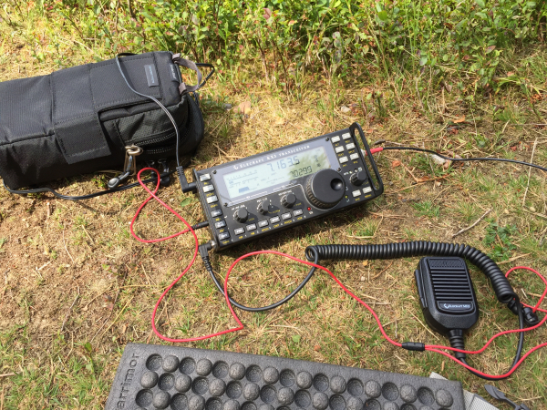 Elecraft KX3 Ready to Go on HF - Dipole had other ideas!